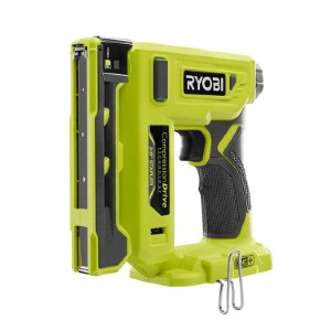 RYOBI 18-Volt ONE+ Cordless Compression Drive - Best Staple Gun for Wood: Dry-Fire Lockout Feature Extends Tool Life