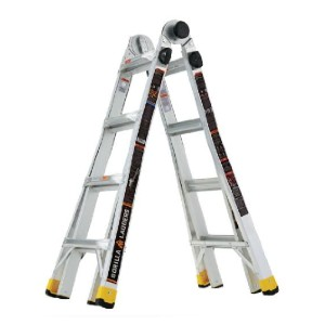 Gorilla Ladders 18 ft. Reach MPXA  - Best Ladders for Stairs: Reduce Flex and Sway When Climbing