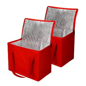 Bodaon 2 Pack Insulated Reusable Grocery Bag - Best Cooler Bag for Breast Milk: It folds flat!