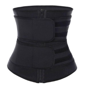 Femme Shapewear  2 Velcro Belts in Gray and Black - Best Waist Trainer for Women: Extra High Compression Neoprene Waist Trainer
