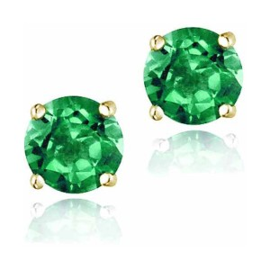 Top Seller 2.1 Carat T.G.W. Created Emerald 18kt Gold - Best Jewelry for Sensitive Skin: Best for budget