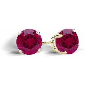Top Seller 2.1 Carat T.G.W. Created Ruby - Best Jewelry for Sensitive Ears: Best budget-friendly pick