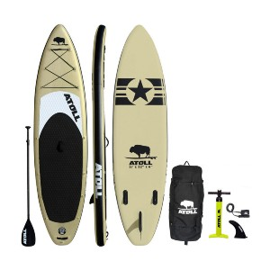 Atoll Desert Sand iSUP Package - Best Paddleboard for Fishing: No more losing your balance