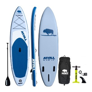 Atoll Light Blue iSUP Package - Best Paddleboard for Surfing: No fear of tipping over