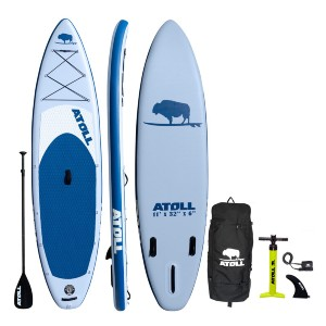 Atoll Light Blue iSUP Package - Best Paddleboard for Fishing: Phenomenal stability