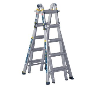 WERNER 22 ft. Reach Aluminum  - Best Ladders for Stairs: Slip-Resistant Feet