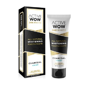 Active Wow 24K White - Best Teeth Whitening Toothpaste: Perfect for Everyday Use
