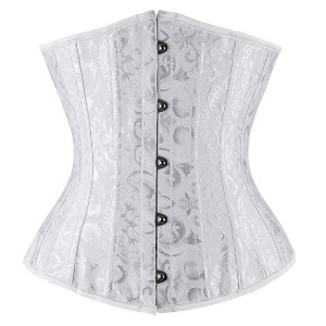 CHARMIAN 26 Steel Boned Brocade Underbust Waist Training Corset - Best Waist Trainer for Under Clothes: Not the Strong Thick Steel