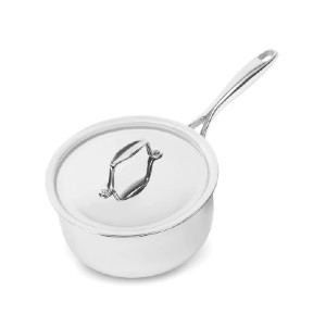 Sardel 2QT Saucepan - Best Saucepan Stainless Steel: Curved Edges for Easy Pouring