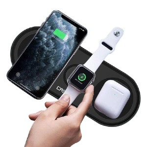 Caseco 3-In-1 Wireless Charging Pad - Best Wireless Charger for Multiple Devices: Easy to Place the Products for Charging