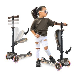 Hurtle 3 Wheeled Scooter for Kids - Best 3 Wheel Scooter: Scoot while sitting or standing