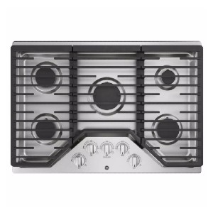 GE 30 in. Gas Cooktop in Stainless Steel - Best Professional Cooktops: Moving hot pans seamlessly