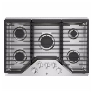 GE 30 in. Gas Cooktop in Stainless Steel  - Best Stove Cooktops: Dishwasher-safe grates
