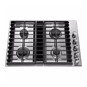 KitchenAid 30 in. Gas Downdraft Cooktop  - Best Cooktops with Downdraft: Great at  low and high temperatures