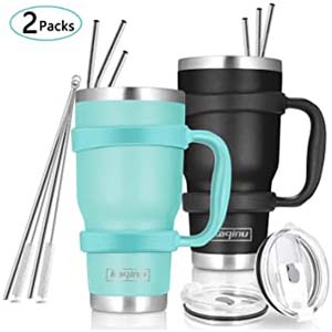 Kaqinu 2 Packs Insulated Tumbler - Best Tumbler for Cold Drinks: Complete package