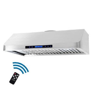 Cosmo 36 in. Ducted Under Cabinet Range Hood - Best Range Hood for Indian Cooking: Wireless remote control