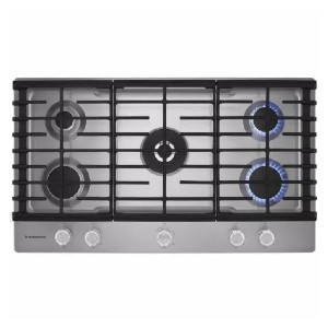 KitchenAid 36 in. Gas Cooktop in Stainless Steel  - Best 5 Burner Gas Cooktops: Impressive electronic ignition