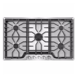 Frigidaire 36 in. Gas Cooktop  - Best 5 Burner Gas Cooktops: Clean-up is a breeze!