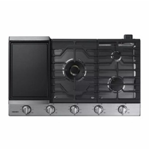 Samsung 36 in. Gas Cooktop in Stainless  - Best 5 Burner Gas Cooktops: Best smart pick