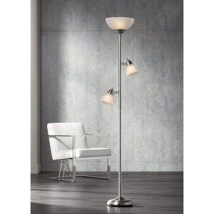 360 Lighting Ellery Modern Torchiere Floor Lamp - Best Floor Lamp for Dark Room: Three Sources Light Floor Lamp