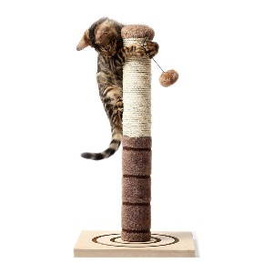 4 Paws Stuff Tall Cat Scratching Post Cat Interactive Toys - Best Cat Toys for Home Alone: Scratch Post Tree