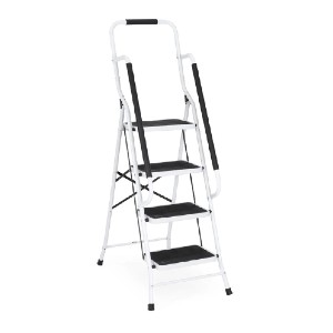 Best Choice Products 4-Step Portable Folding Safety Ladder  - Best Ladders for Home Use: Indoor and Outdoor Use