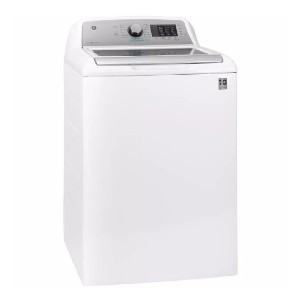 GE 4.8 cu. ft. High-Efficiency Washing Machine  - Best Washing Machine for Pet Hair: Wash and sanitize