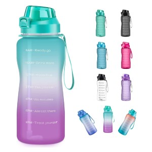 4AMinLA Motivational Water Bottle 64/100oz - Best Water Bottle with Time Marker: Convenient Hourly Time Markings