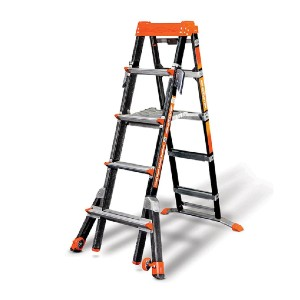 Little Giant 5-8 Ft. Select Step Fiberglass - Best Ladders for Home Use: Heel-to-Toe Foot Support