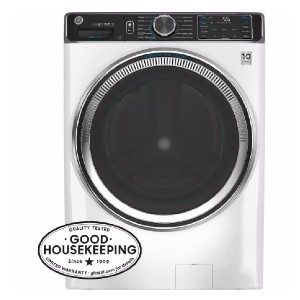 GE 5.0 cu. ft. White Front Load Washing Machine  - Best Washers Under 1000: Bye, unwanted odors!
