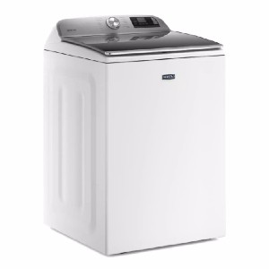 Maytag 5.3 cu. ft. Smart Capable White Top Load Washing Machine - Best Washing Machine for Pet Hair: 10-year warranty