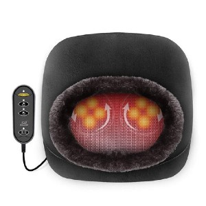 SNAILAX 2-in-1 Shiatsu Kneading design - 522S - Best Foot Massager with Heat: Super Cozy Plush Cloth