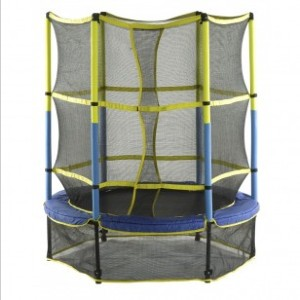 Upper Bounce  55in Mini Trampoline with Enclosure System - Best Trampoline with Net: Kid-friendly tramps