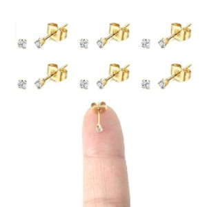 Gorgeouser 14K Gold Plated 316L Surgical Steel Earrings  - Best Jewelry for Piercings: Simple but sweet