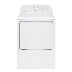 Hotpoint 6.2 cu. ft. 120 Volt White Gas Vented Dryer - Best Dryers for the Money: Alerts you when the load is done