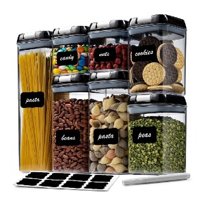 Seseno 7 Pack Airtight Food Storage Container Set - Best Storage Containers for Kitchen: Best for budget