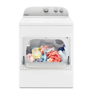 Whirlpool 7.0 cu. ft. 120-Volt White Gas Vented Dryer - Best Dryers for the Money: Wide-opening door