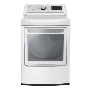 LG 7.3 cu. ft. Ultra Large Smart Electric Vented Dryer  - Best Dryers Energy Efficient: Wrinkle-free laundry