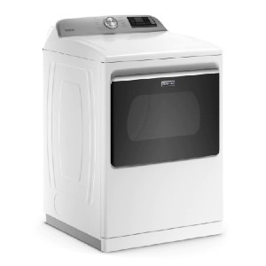 Maytag 7.4 cu. ft. 240-Volt Smart Capable White Electric Vented Dryer - Best Dryers with Steam: Affordable smart unit