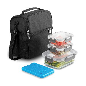 Finedine 8-Piece Insulated Lunch Box Set - Best Lunch Box with Ice Pack: Interior Insulation