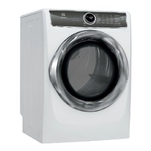 Electrolux 8.0 cu. ft. White Electric Dryer with Steam - Best Dryers with Steam: Minimizes dryer noise