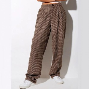 Lulacola 90`S Plaid Straight Leg Pants - Best Loungewear Pants: Vintage vibe