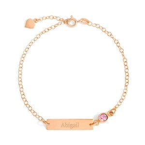 Yafeini Personalized Birthstone Engraved Anklet - Best Jewelry for Bridesmaids: Best personalized anklet