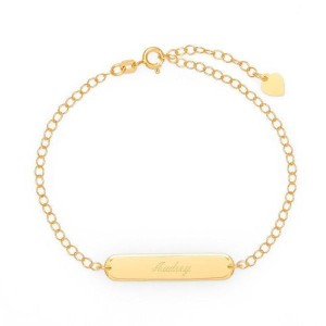 Yafeini Engravable Name Bar Anklet - Best Jewelry for 30th Birthday:  Best for budget