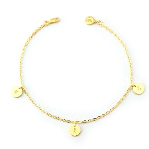 Yafeini Personalized Initial Engraved Anklet - Best Jewelry for Mother's Day: Best for budget
