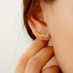 Yafeini Personalized Initial Name Earrings  - Best Personalized Jewelry for Moms: Best gift for any celebrations