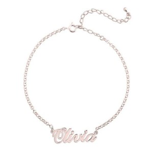 Yafeini 925 Sterling Silver Personalized Name Anklet - Best Jewelry for Teenage Girl: For more personal feeling
