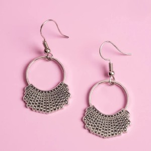 Yafeini RBG Dissent Collar Hook and Hoop Earrings - Best Jewelry for Off the Shoulder Dress: For Justice Ruth Bader Ginsburg fans