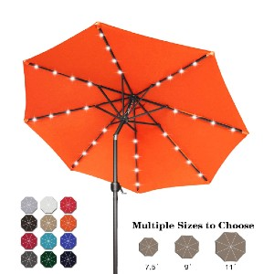 ABCCANOPY 9FT Patio Umbrella Outdoor Solar Umbrella  - Best Patio Umbrellas with Lights: Hassle-free setup