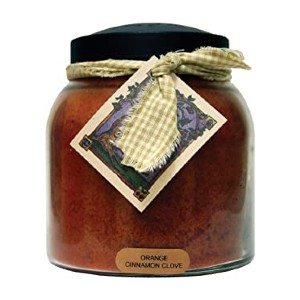 A Cheerful Giver Orange Cinnamon Clove Papa Jar Candle - Best Scented Candles: Fill spacious room